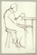 Woman at High Table